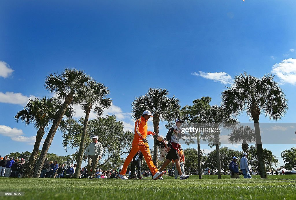 Rickie Fowler walks off the fourth hole during the final round of the Honda Classic at PGA National Resort and Spa on March 3, 2013 in Palm Beach Gardens, Florida.