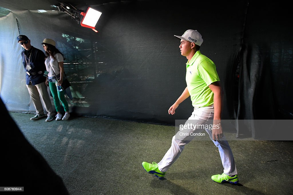 <a gi-track='captionPersonalityLinkClicked' href=/galleries/search?phrase=Rickie+Fowler&family=editorial&specificpeople=4466576 ng-click='$event.stopPropagation()'>Rickie Fowler</a> walks through the tunnel to the 16th tee during the third round of the Waste Management Phoenix Open, at TPC Scottsdale on February 6, 2016 in Scottsdale, Arizona.