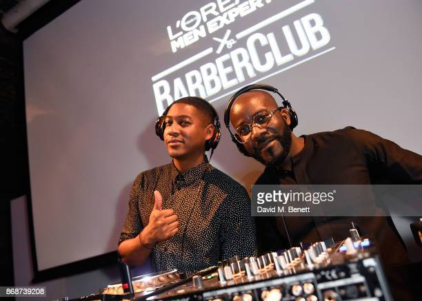 Rickie Haywood Williams and Melvin Odoom attend the L'Oreal Paris Men Expert and Movember Charity Partnership event at The Bike Shed on October 31...