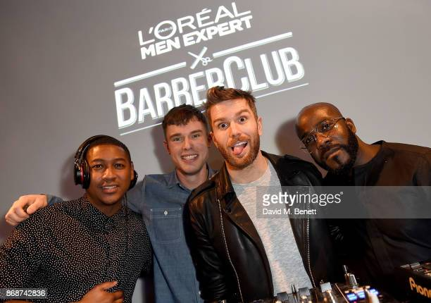 Rickie Haywood Williams Ed Gamble Joel Dommett and Melvin Odoom attend the L'Oreal Paris Men Expert and Movember Charity Partnership event at The...
