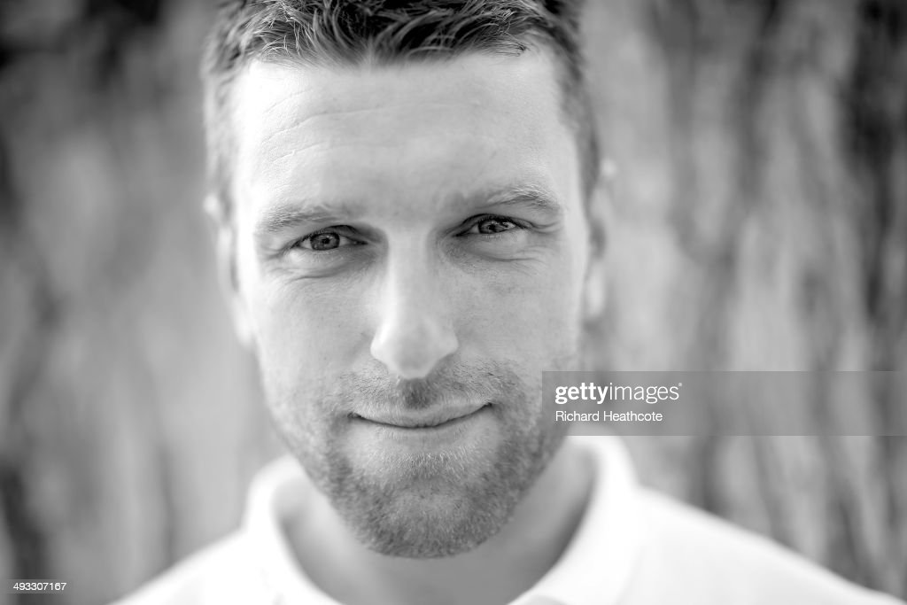 Rickie Lambert poses for a picture after a press conference at the England pre-World Cup Training Camp at the Vale Do Lobo Resort on May 21, 2014 in Vale Do Lobo, Algarve, Portugal.