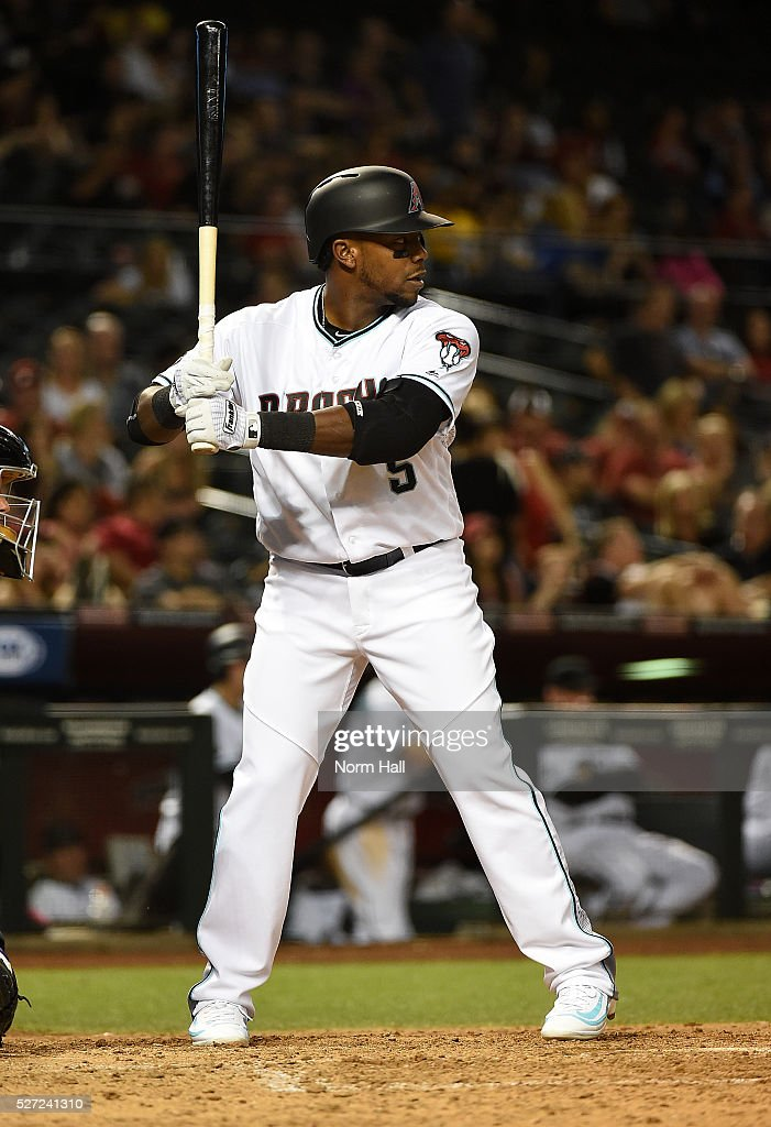 <a gi-track='captionPersonalityLinkClicked' href=/galleries/search?phrase=Rickie+Weeks&family=editorial&specificpeople=550245 ng-click='$event.stopPropagation()'>Rickie Weeks</a> Jr #5 of the Arizona Diamondbacks gets ready in the batters box against the Colorado Rockies on April 29, 2016 in Phoenix, Arizona.