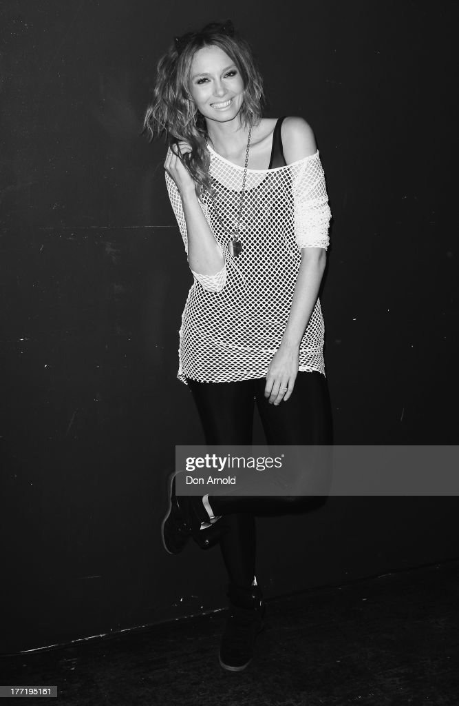 <a gi-track='captionPersonalityLinkClicked' href=/galleries/search?phrase=Ricki-Lee+Coulter&family=editorial&specificpeople=213884 ng-click='$event.stopPropagation()'>Ricki-Lee Coulter</a> poses at the launch of Ricky-Lee's collection for Cotton On Body at Simmer On The Bay, Hickson Road, Dawes Point on August 22, 2013 in Sydney, Australia.