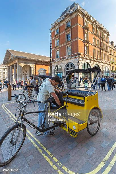 Rickshaw in Covent Garden in London