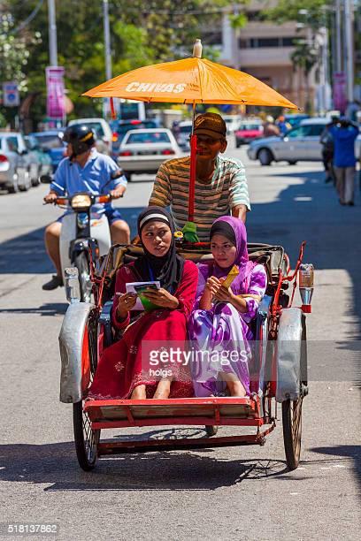 Rickshaw in George Town, Malaysia