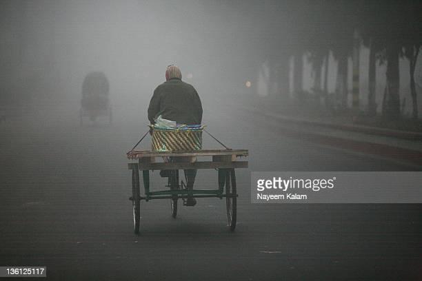 Rickshaw-van with fog , Chittagong