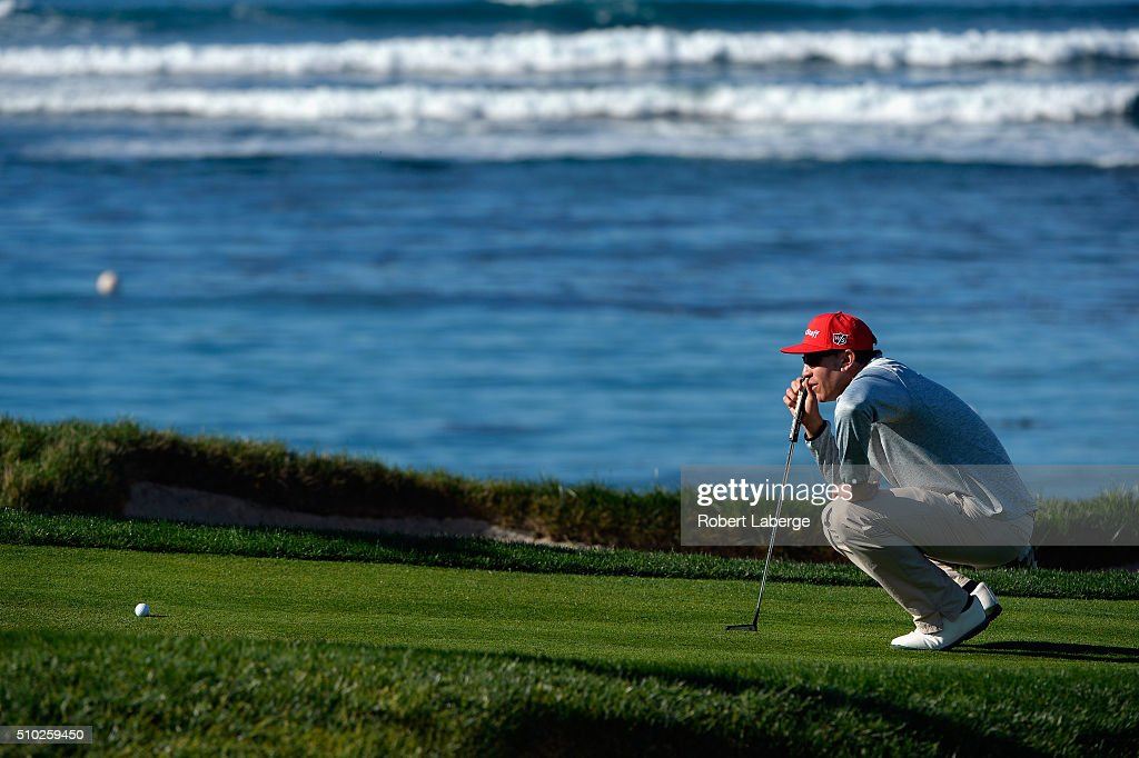<a gi-track='captionPersonalityLinkClicked' href=/galleries/search?phrase=Ricky+Barnes&family=editorial&specificpeople=171822 ng-click='$event.stopPropagation()'>Ricky Barnes</a> lines up a putt on the fourth green during the final round of the AT&T Pebble Beach National Pro-Am at the Pebble Beach Golf Links on February 14, 2016 in Pebble Beach, California.