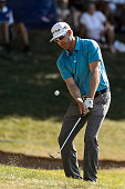 Ricky Barnes of the United States plays the ball towards the sixteenth hole during round three of the 2016 RBC Canadian Open at Glen Abbey Golf...