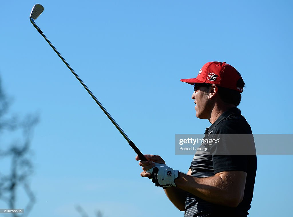 <a gi-track='captionPersonalityLinkClicked' href=/galleries/search?phrase=Ricky+Barnes&family=editorial&specificpeople=171822 ng-click='$event.stopPropagation()'>Ricky Barnes</a> plays his tee shot on the fifth hole during the final round of the AT&T Pebble Beach National Pro-Am at the Pebble Beach Golf Links on February 14, 2016 in Pebble Beach, California.