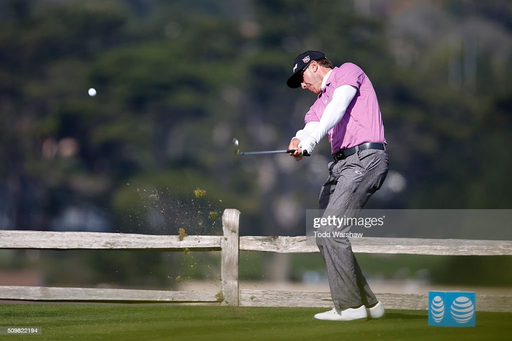 <a gi-track='captionPersonalityLinkClicked' href=/galleries/search?phrase=Ricky+Barnes&family=editorial&specificpeople=171822 ng-click='$event.stopPropagation()'>Ricky Barnes</a> plays his tee shot on the seventh hole during the second round of the AT&T Pebble Beach National Pro-Am at the Pebble Beach Golf Links on February 12, 2016 in Pebble Beach, California.