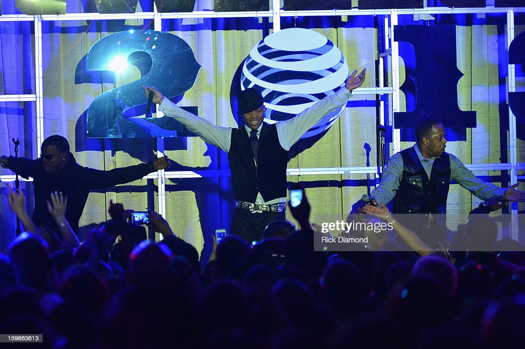 Ricky Bell, Ronnie DeVoe and Michael Bivins of Bell Biv DeVoe perform at the Inaugural Ball hosted by BET Networks at Smithsonian American Art Museum & National Portrait Gallery on January 21, 2013 in Washington, DC.