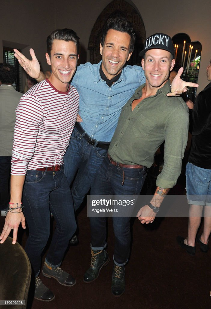 Ricky Bennick, George Kotsiopoulos and Johnny Wujek attend Lucky Brand's Measure of Style Dinner at Chateau Marmont on June 13, 2013 in Los Angeles, California.