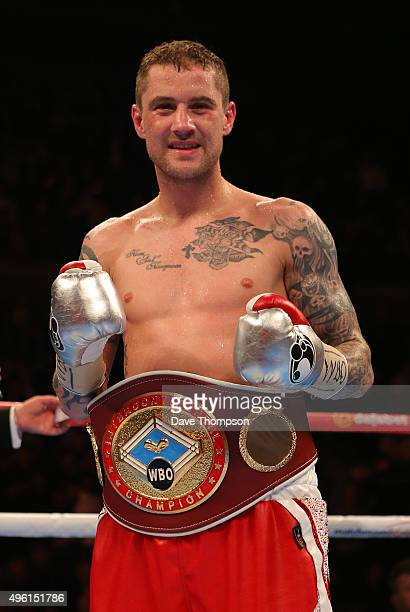 Ricky Burns after beating Josh King during their Lightweight contest at the Echo Arena on November 7 2015 in Liverpool England