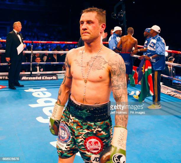 Ricky Burns after defeat during the WBA IBF and IBO Superlightweight World Championship bout at the SSE Hydro Glasgow