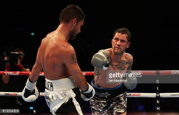 Ricky Burns defends his WBA World SuperLightweight title against Kiryl Relikh at The SSE Hydro on October 7 2016 in Glasgow Scotland
