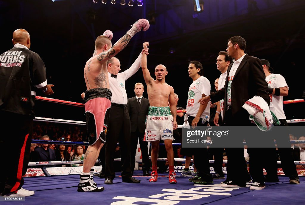 Ricky Burns retains the belt after his draw with Raymundo Beltran during their WBO World Lightweight Title bout at SECC on September 7, 2013 in Glasgow, Scotland.