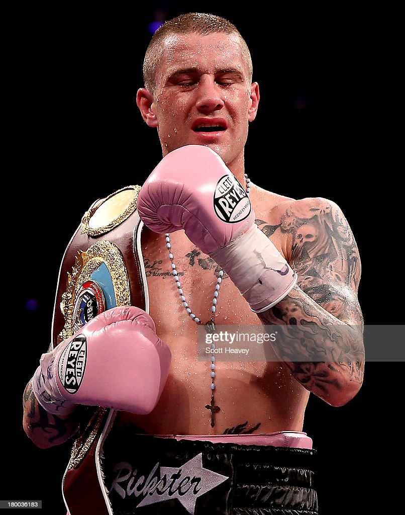 <a gi-track='captionPersonalityLinkClicked' href=/galleries/search?phrase=Ricky+Burns&family=editorial&specificpeople=4145249 ng-click='$event.stopPropagation()'>Ricky Burns</a> retains the belt after his draw with Raymundo Beltran during their WBO World Lightweight Title bout at SECC on September 7, 2013 in Glasgow, Scotland.