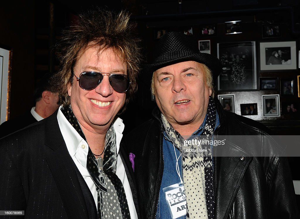 Ricky Byrd and Gene Cornish of The Rascals performs at The Cutting Room on January 25, 2013 in New York, New York.