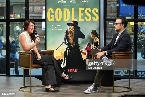 Ricky Camilleri interviews Samantha Soule during her visit to Build to discuss 'Godless' at Build Studio on November 27 2017 in New York City