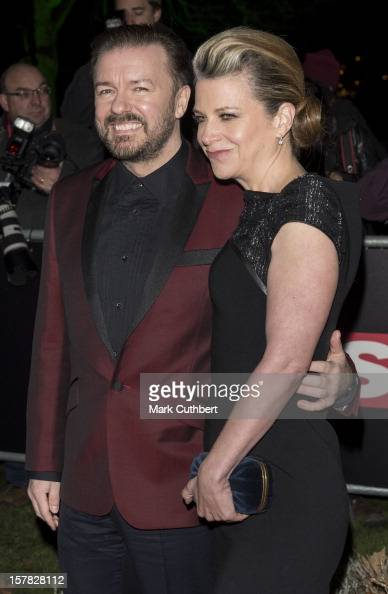 Ricky Gervais and Jane Fallon attend the Sun Military Awards at Imperial War Museum on December 6 2012 in London England
