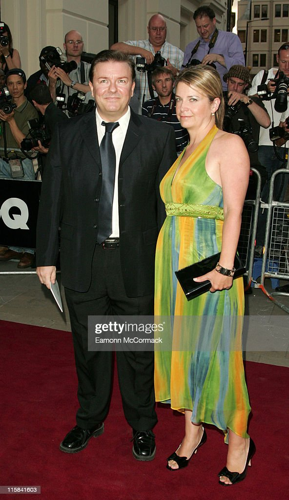 Ricky Gervais and Jane Fallon during GQ Men of the Year Awards - Outside Arrivals at Royal Opera House in London, Great Britain.