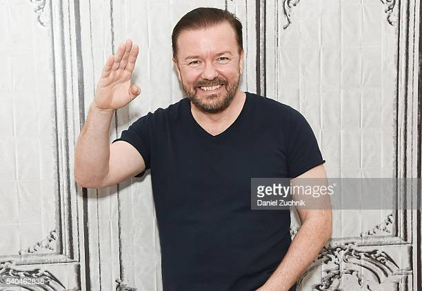 Ricky Gervais attends AOL Build to discuss 'Special Correspondents' at AOL Studios on June 15 2016 in New York City