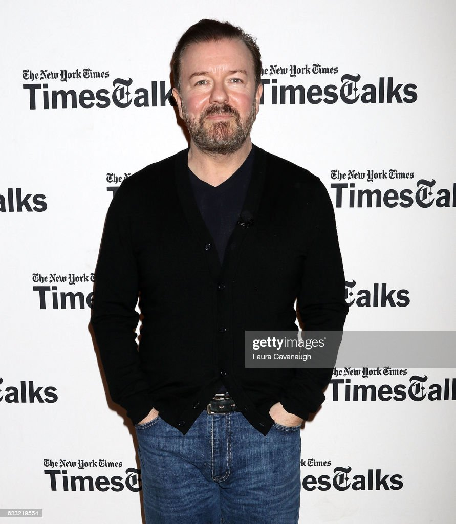 Ricky Gervais attends TimesTalk at TheTimesCenter on January 31, 2017 in New York City.