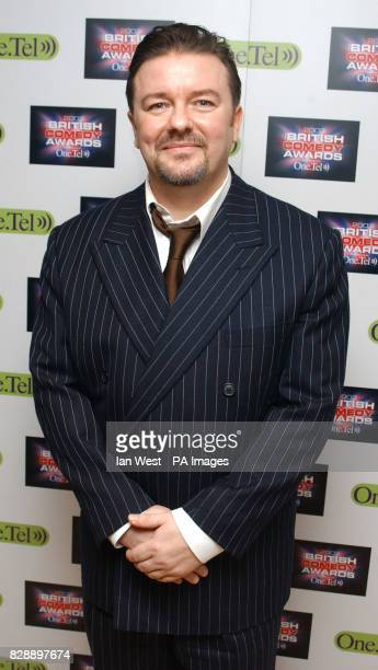 Ricky Gervais during the annual British Comedy Awards at London Television Studios in south London 15/01/04 Ricky Gervais almost missed out on a...