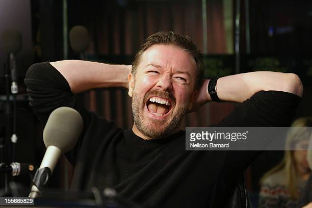 Ricky Gervais visits SiriusXM's 'Opie Anthony Show' at SiriusXM Studios on November 6 2012 in New York City
