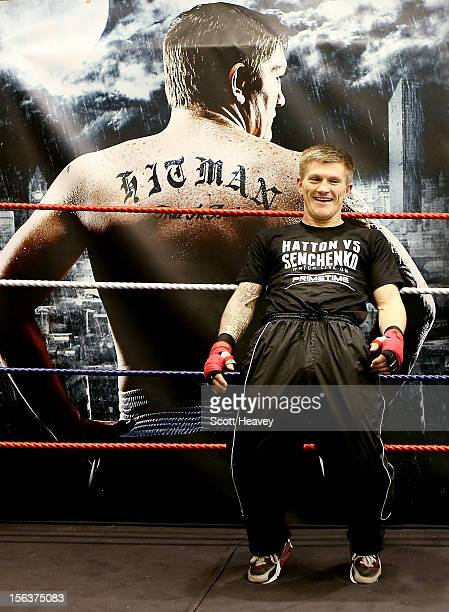Ricky Hatton during a media workouot session ahead of his fight with Vyacheslav Senchenko on November 14 2012 in Manchester England