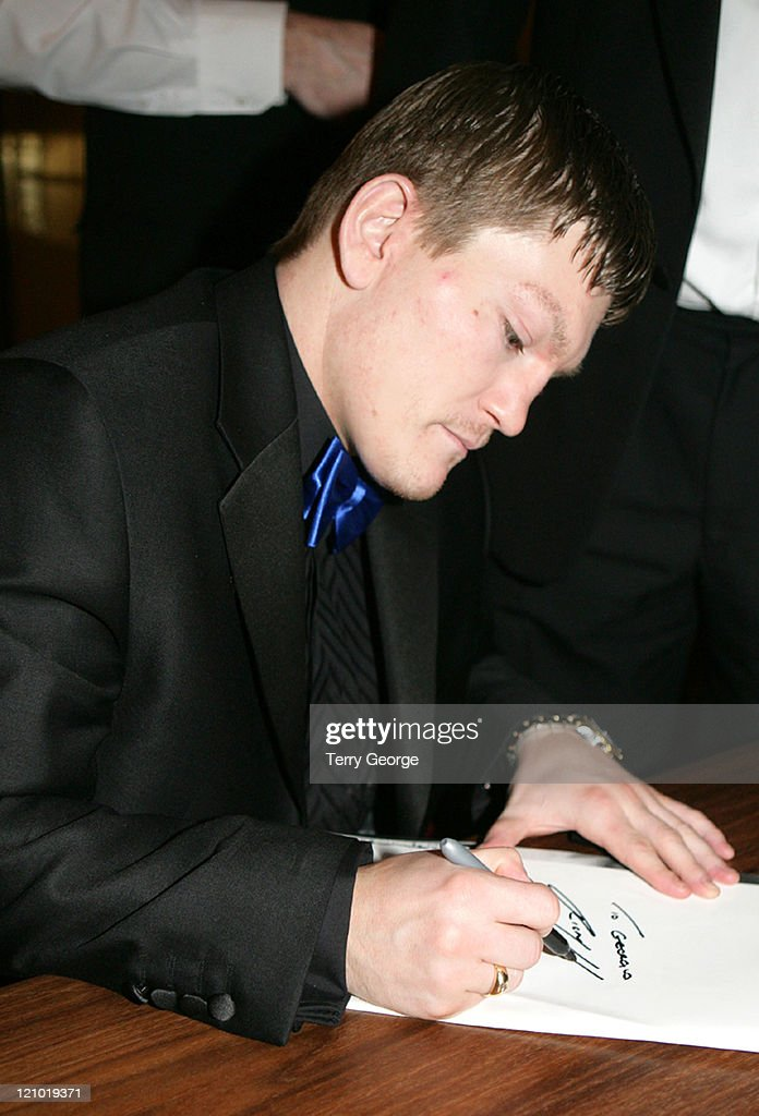 <a gi-track='captionPersonalityLinkClicked' href=/galleries/search?phrase=Ricky+Hatton&family=editorial&specificpeople=208674 ng-click='$event.stopPropagation()'>Ricky Hatton</a> during <a gi-track='captionPersonalityLinkClicked' href=/galleries/search?phrase=Ricky+Hatton&family=editorial&specificpeople=208674 ng-click='$event.stopPropagation()'>Ricky Hatton</a> at the Queens Hotel - March 20, 2006 at Queens Hotel in Leeds, Great Britain.