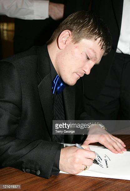 Ricky Hatton during Ricky Hatton at the Queens Hotel March 20 2006 at Queens Hotel in Leeds Great Britain