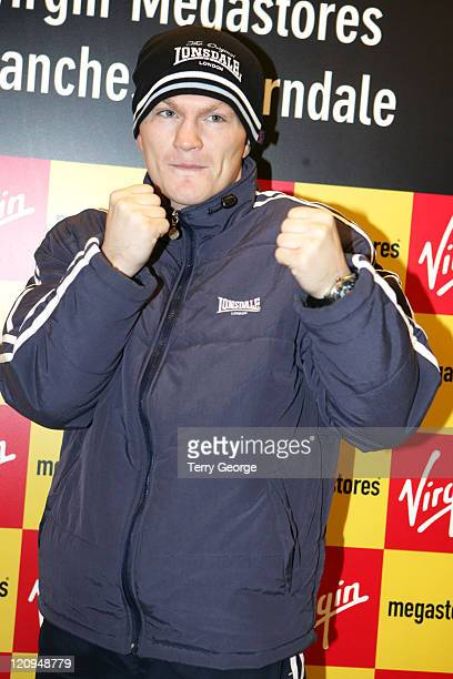 Ricky Hatton during VIP Opening of the New Virgin Megastore in Manchester at Arndale Centre in Manchester Great Britain