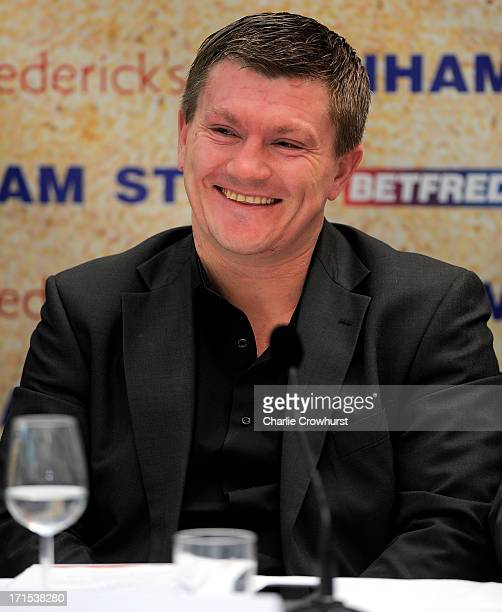 Ricky Hatton of Hatton Promotions during the Boxnation Press Conference on June 26 2013 in London England