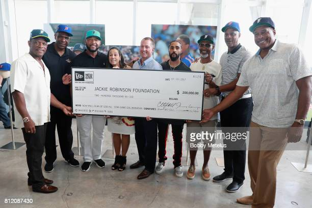 Ricky Henderson Andre Dawson Gary Sheffield President of The Jackie Robinson Foundation Della Britton CEO President of New Era Cap Chris Koch Jerry...