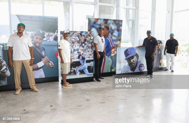 Ricky Henderson Dave Winfield Jerry Lorenzo Jerry Manuel Daryl Strawberry Andre Dawson and Gary Sheffield attend the New Era Cap X Fear Of God Pop Up...