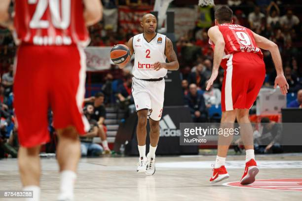 Ricky Hickman drives to the basket during a game of Turkish Airlines EuroLeague basketball between AX Armani Exchange Milan vs Brose Bamberg at...