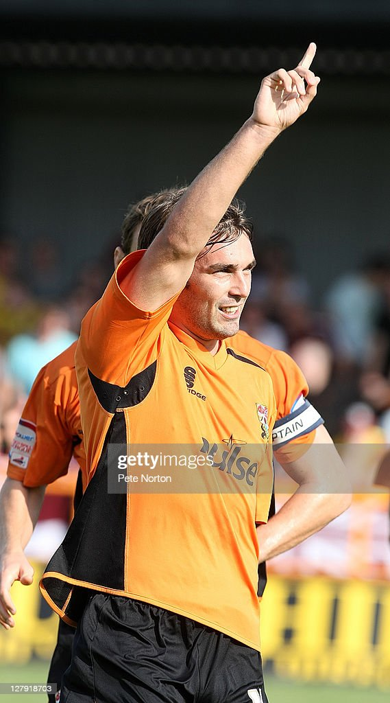 Ricky Holmes of Barnet celebrates after scoring his sides goal during the npower League two match between Barnet and Northampton Town at Underhill Stadium on October 1, 2011 in Barnet, England.