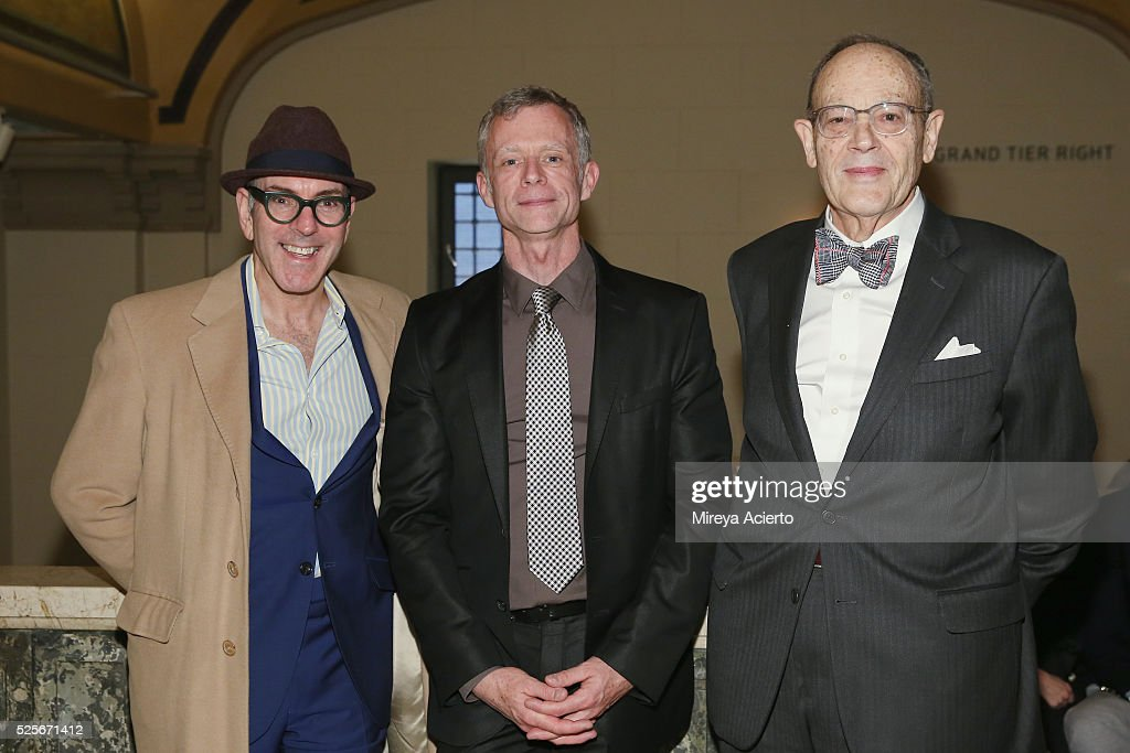 Ricky Ian Gordon, Edward Barnes and Jack Grumbach attend the Master Voices 2016 Spring Benefit and Concert on April 28, 2016 in New York, New York.