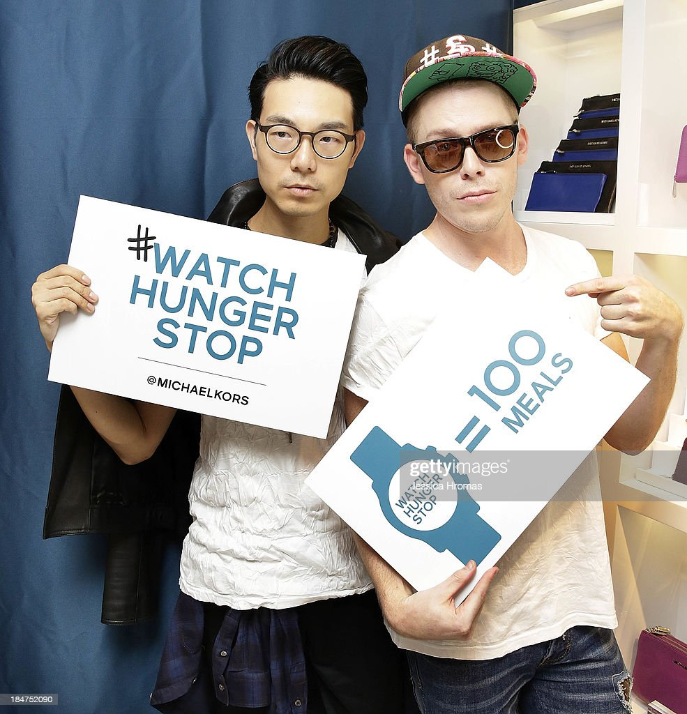 Ricky Kwok and Mark Ryan attend Michael Kors World Food Day -Hong Kong on October 16, 2013.