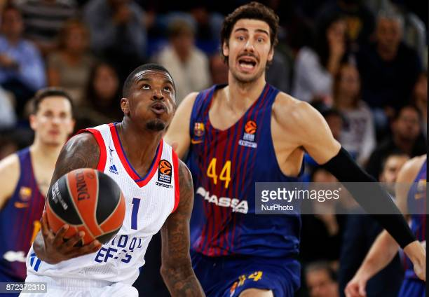 Ricky Ledo and Ante Tomic during the match between FC Barcelona v Anadolou Efes corresponding to the week 6 of the basketball Euroleague in Barcelona...