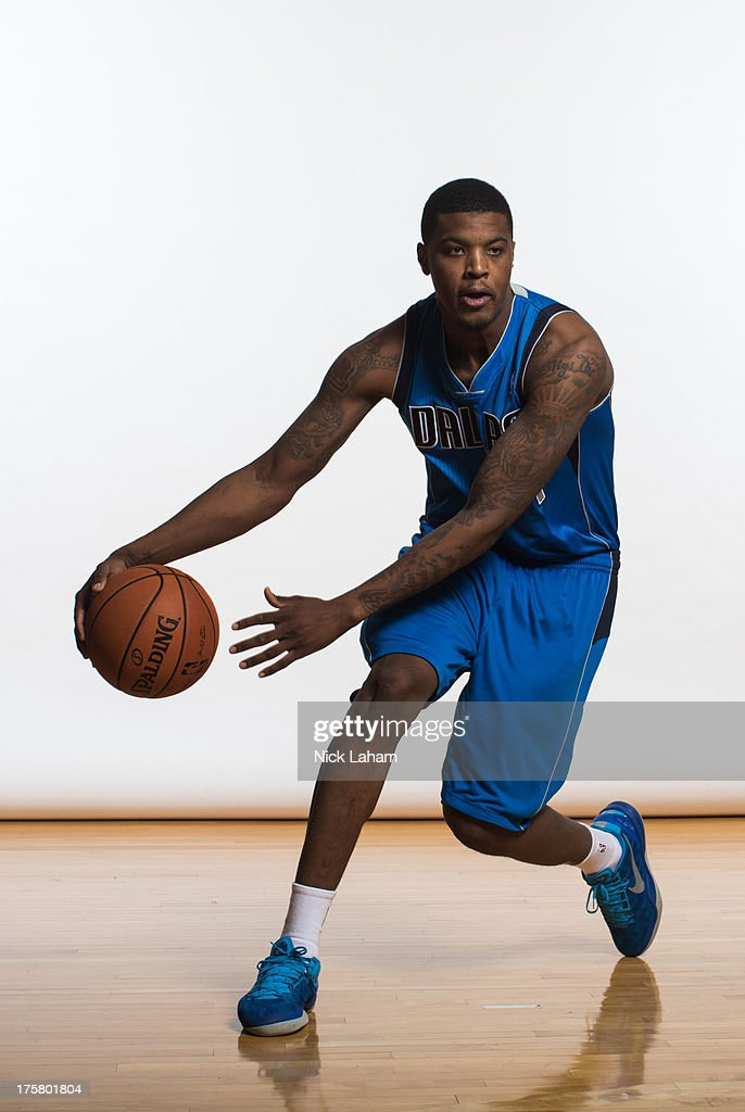 Ricky Ledo #7 of the Dallas Mavericks poses for a portrait during the 2013 NBA rookie photo shoot at the MSG Training Center on August 6, 2013 in Greenburgh, New York.