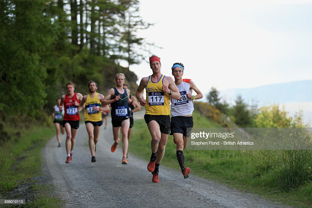Ricky Lightfoot of Great Britain in action during the European Mountain Running Championship Trials at Whinlatter Forest on May 28, 2016 in Keswick, England.