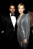 NEW YORK JUNE 13 Ricky Martin and Cate Blanchett in the green room at the 64th Annual Tony Awards at Radio City Music Hall on June 13 2010 in New...