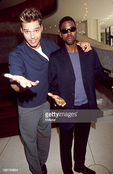 Ricky Martin and Chris Rock during MTV Video Awards Press Conference at Metropolitan Opera House in New York New York United States