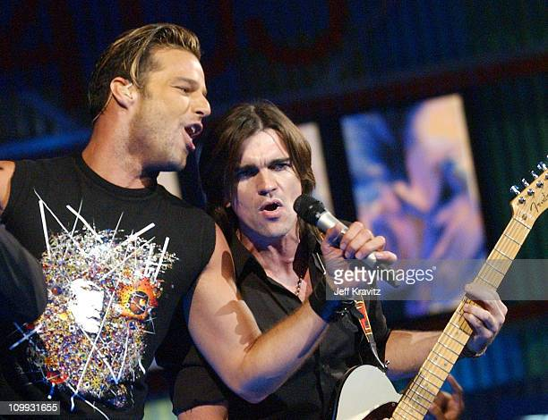 Ricky Martin and Juanes during MTV Video Music Awards Latin America 2003 Live Telecast at Jackie Gleason Theater in Miami Beach Florida United States