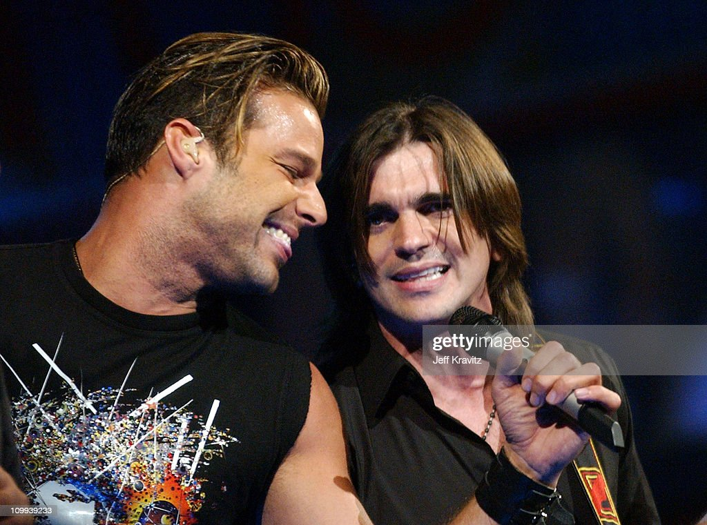 Ricky Martin and Juanes during MTV Video Music Awards Latin America 2003 - Live Telecast at Jackie Gleason Theater in Miami Beach, Florida, United States.