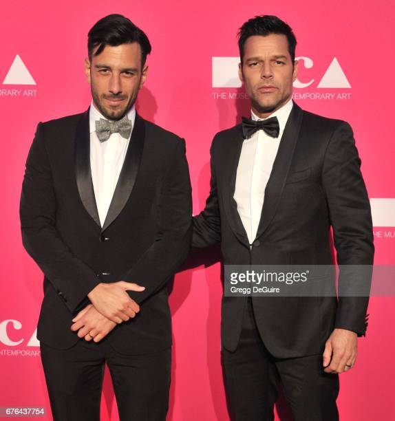 Ricky Martin and Jwan Yosef arrive at the MOCA Gala 2017 at The Geffen Contemporary at MOCA on April 29 2017 in Los Angeles California