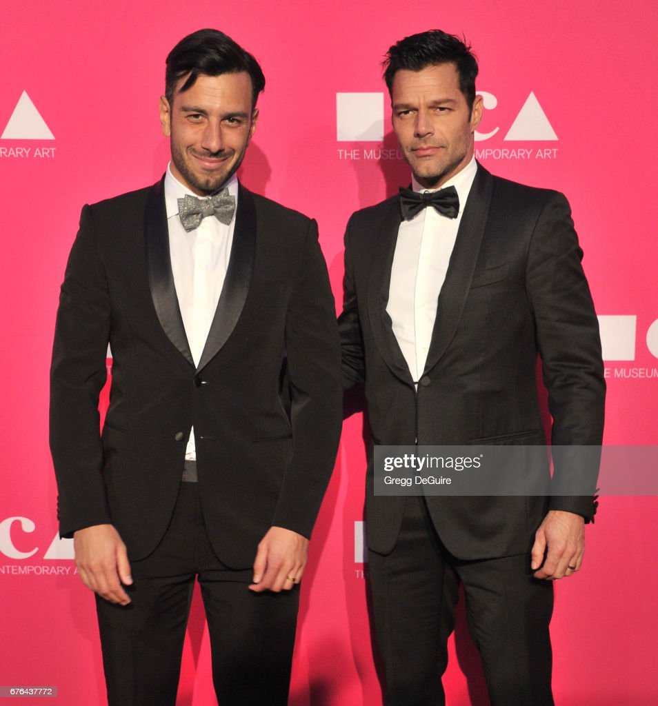 Ricky Martin and Jwan Yosef arrive at the MOCA Gala 2017 at The Geffen Contemporary at MOCA on April 29, 2017 in Los Angeles, California.