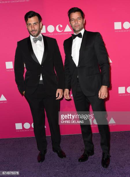 Ricky Martin and Jwan Yosef attend the MOCA annual gala at the Geffen Contemporary at MOCA in Los Angeles on April 29 2017 / AFP PHOTO / CHRIS DELMAS